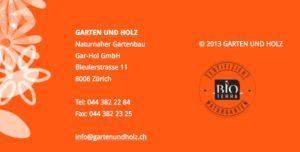 Gartenbauer Garten und Holz in Zürich