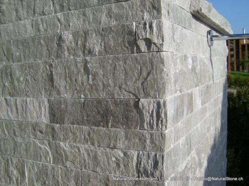 """Mauersteine """"Lego"""" aus Valserquarzit, 3 verschiedene Höhen"""
