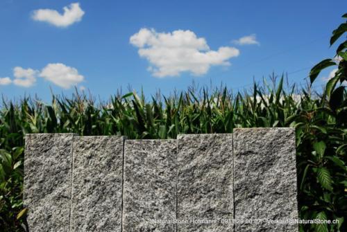 Tessinergneis hell - Stelen Flächen naturgespalten, Kanten gefräst