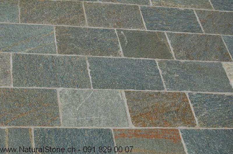 Luserna-Bodenplatten-Farbmuster