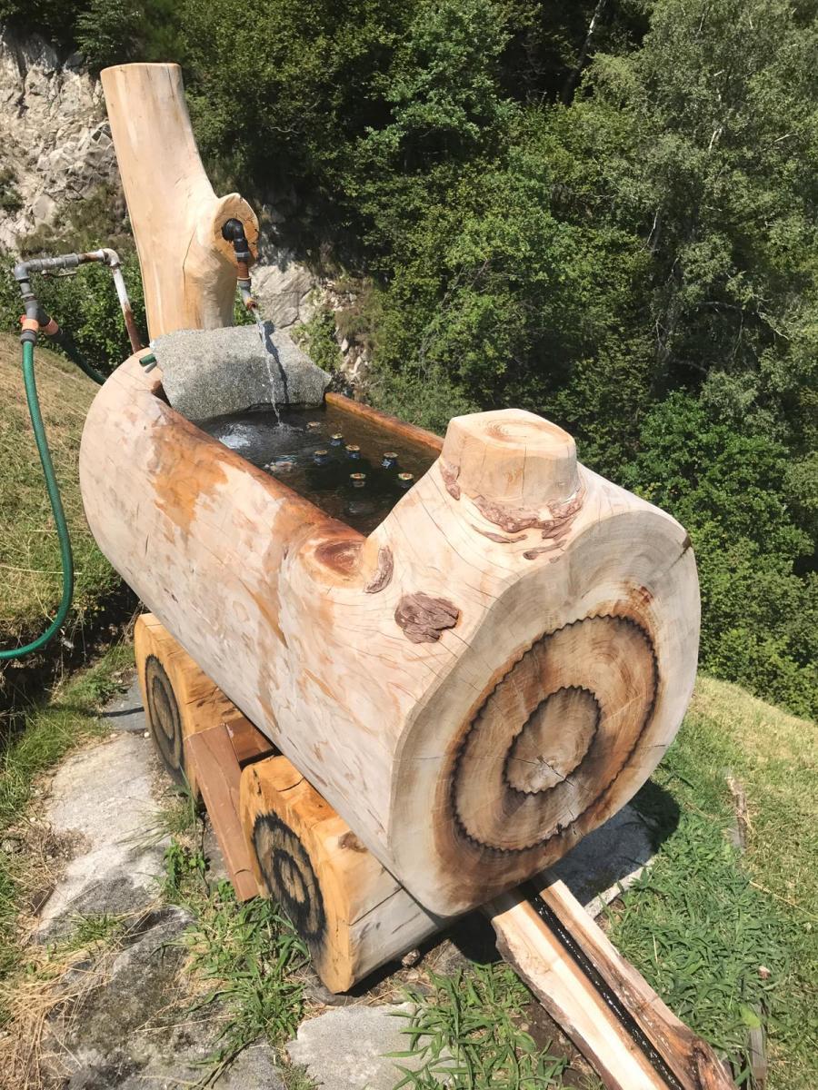 Brunnen_Kastanienholz