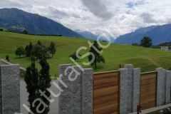 Sichtschutz-Palisaden-Kastanienholz-Garten