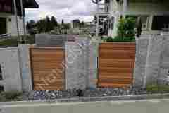 Sichtschutz-Palisaden-Kastanienholz-Vorderansicht