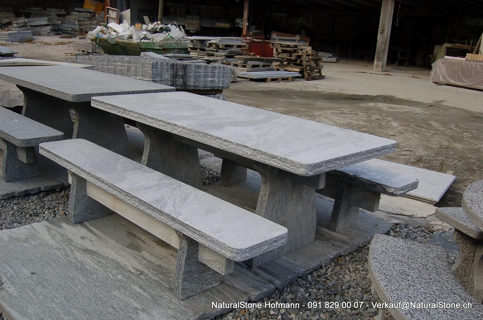 Granittisch-Semi-Classico-freistehend-geflammt-gespitzt